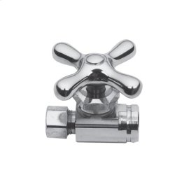 """Uncoated Polished Brass - Living Straight Valve, 1/2"""" IPS"""