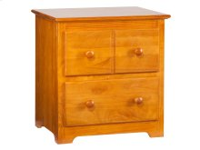 Windsor 2 Drawer Night Stand in Caramel Latte