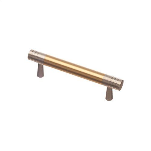 """3"""" center to center Pull - Satin Nickel and Polished Brass"""