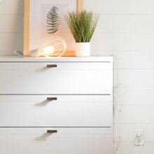 Teardrop shade with cord for wall outlet - White