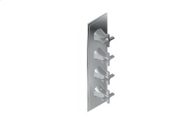 Finezza DUE Thermostatic 4-Hole Trim Plate and Handle