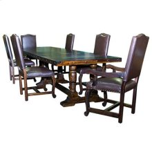 """!2' Lacquered table """"Serra Madre"""" 12 foot Lacquered Pedestal Table with Leather Lacquered Chairs"""