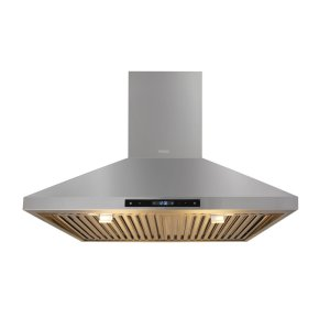 Thor30in Wall Mount Chimney Range Hood In Stainless Steel With LED Lights, Touch Control With Display and Remote Control
