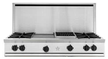 """48"""" RANGETOP WITH A 24"""" CHARBROILER"""