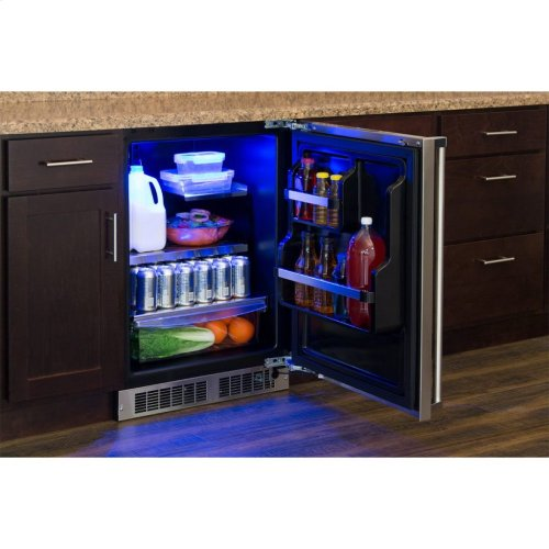 """Marvel Professional 24"""" All Refrigerator with Drawer Storage - Integrated Left Hinge, Professional Handle"""
