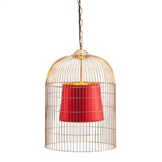 Gold & Red Sprite Ceiling Lamp Small Product Image