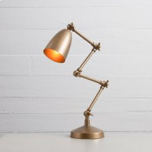 Folding Table Lamp-brass