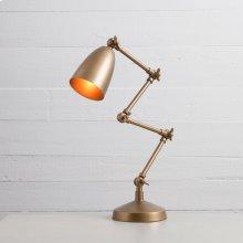 Folding Table Lamp-brass