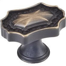 """1-9/16"""" Overall Length Oval Baroque Cabinet Knob."""