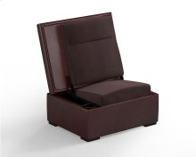 JumpSeat Ottoman, Hersey Cover / Root Beer Seat
