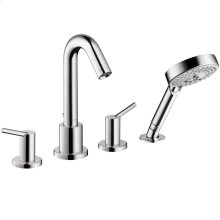 Chrome 4-Hole Roman Tub Set Trim with 1.8 GPM Handshower