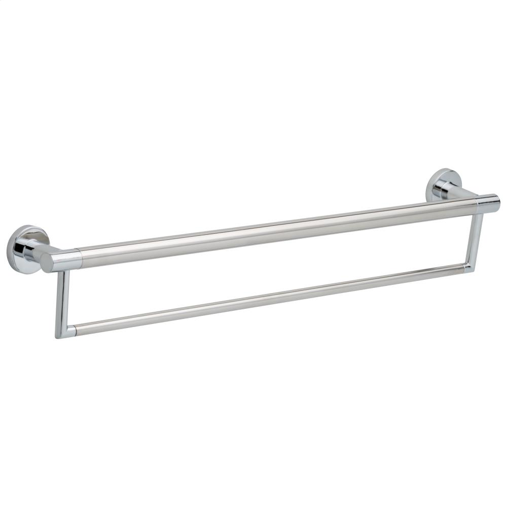"Chrome 24"" Contemporary Towel Bar with Assist Bar"