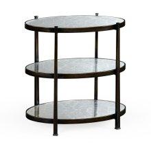 Small glomise & Bronze Iron Three-Tier Table