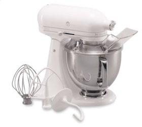 Artisan® Series 5 Quart Tilt-Head Stand Mixer - White-on-White