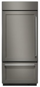 """Built-In Stainless Bottom Mount Refrigerator 20.9 Cu. Ft. 36"""" Width - Panel Ready Product Image"""