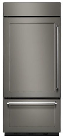"Built-In Stainless Bottom Mount Refrigerator 20.9 Cu. Ft. 36"" Width - Panel Ready"