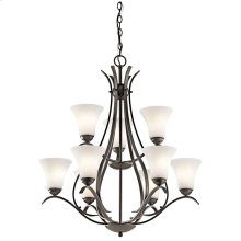 Keiran Collection Keiran 9 light Chandelier OZ