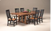 Rustic Mission Curved Slat Arm Chair
