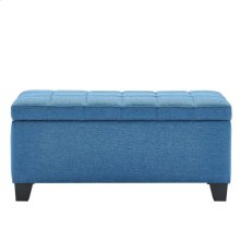 Lila Rectangular Storage Ottoman in Blue