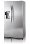 Side-By-Side Refrigerator with Ice and Water Dispenser (26.5 cu. ft.; Stainless Steel)