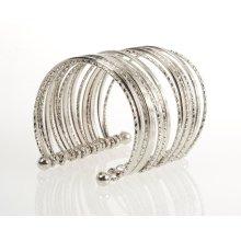 BTQ Silver Multi Wire Cuff