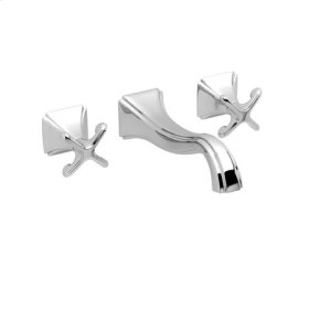 Polished-Nickel Wall Mount Lavatory Faucet