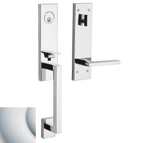 Satin Chrome Minneapolis 3/4 Escutcheon Handleset