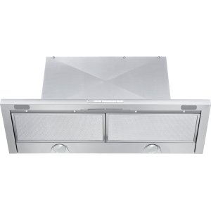 MieleBuilt-in ventilation hood with energy-efficient LED lighting and backlit controls for easy use.