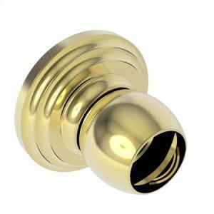 Polished Brass Shower Rod Brackets