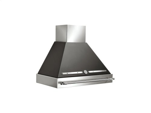 36 Wallmount Canopy and Base Hood, 1 motor 600 CFM Matt Black
