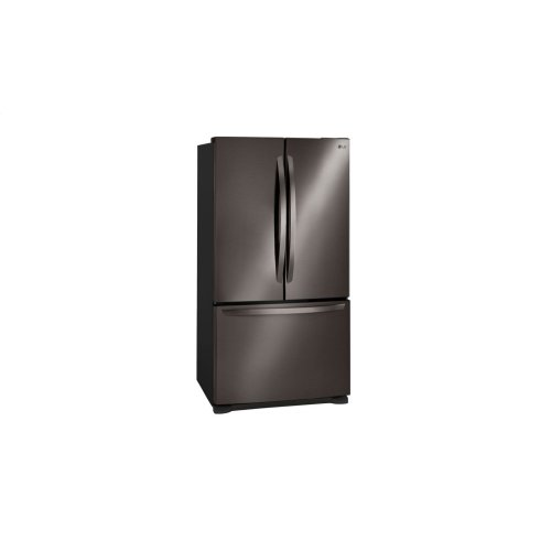 """36"""" Counter Depth French Door Refrigerator With Smart Cooling System, 21 CU.FT. in Black Stainless **OPEN BOX** West Des Moines Location"""