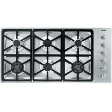 "42"" 6-Burner KM 3484 LP Gas Cooktop - 42"" SS Cooktop Hexa grate"