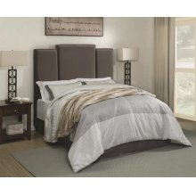 Lawndale Grey Velvet Upholstered Queen Bed