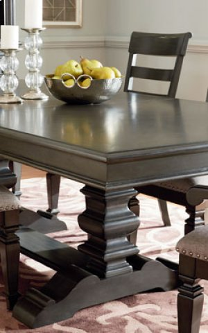 Trestle Table Top, W/18 In. Leaf