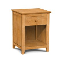Lancaster 1-Drawer Nightstand with Solid wood panel sides & full extension drawer glides