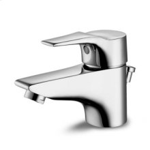 "Single lever basin mixer with aerator 1 1/4"" pop-up waste flexible tails."