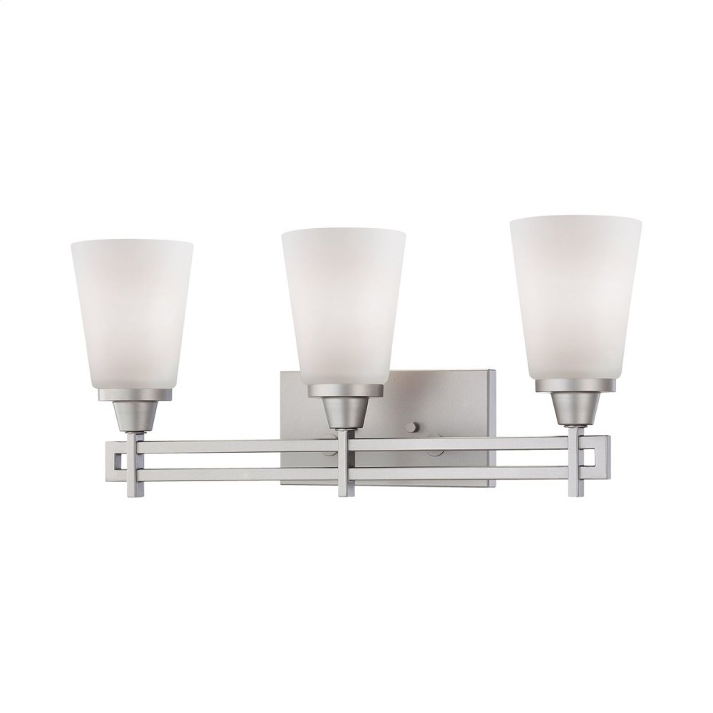 Wright 3-Light Wall Lamp in Matte Nickel