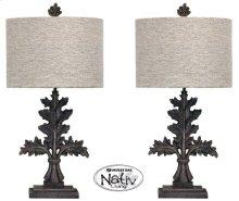 Mo Pair Metal Leaf Lamps