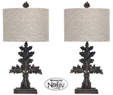 Mo Pair Metal Leaf Lamps
