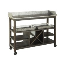 Metal Console/Serving Cart
