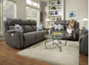 Grand Slam Reclining Sofa w/2 Pillows and Power Headrest