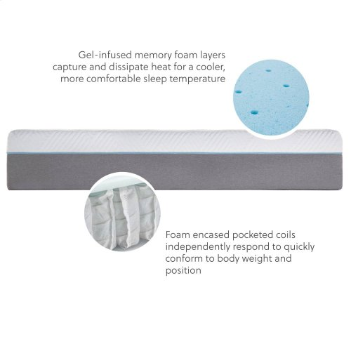 "Wellsville 14"" gel + hybrid, Twin XL"