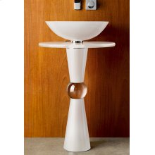 Cono Pedestal - Shown with 210 Basin and White Countertop