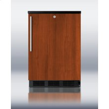 Commercially Approved Solid Door Wine Cellar for Freestanding Use, With Integrated Door Frame for Full Overlay Panels, Black Cabinet, and Front Lock