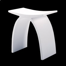 Stool made of solid surface.