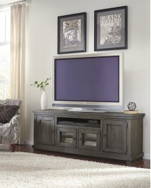 "74"" Console - Distressed Dark Gray Finish"