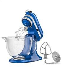 Artisan® Design Series 5-Quart Tilt-Head Stand Mixer with Glass Bowl - Electric Blue