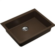 "Elkay Quartz Classic 25"" x 18-1/2"" x 5-1/2"", Undermount ADA Sink with Perfect Drain, Mocha"