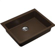 "Elkay Quartz Classic 25"" x 18-1/2"" x 5-1/2"", Undermount ADA Sink with Perfect Drain, Mocha"