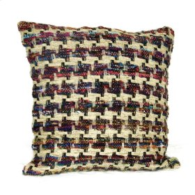 Chindi Multi-Colored Hounds Tooth Pillow